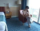 Solo erotic action by Kazusa Yatabe moaning in lovely tones picture 13