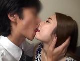 Faithfull Mari Asahina pleasures hubby with a steamy head