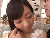 Arisa Fuji enjoys a worthy sex on the couch picture 11