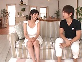 Arisa Fuji enjoys a worthy sex on the couch