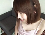 Rune Tsukishiro with nice Asian forms gets hard fucked on the couch