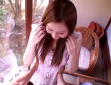 Dirty Asian milf Yui Tatsumi, sucks cock in special manners picture 15
