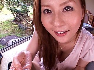 Yui Tatsumi, amateur Asian milf enjoys giving a blowjob
