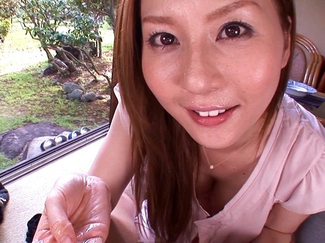 Dirty Asian milf Yui Tatsumi, sucks cock in special manners