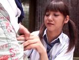 Young Asian schoolgirl Rei Mizuna fucks with teacher outdoors picture 11