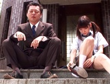 Young Asian schoolgirl Rei Mizuna fucks with teacher outdoors