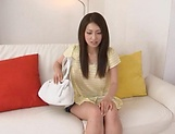 Rough fuck on the couch for tight HIkaru Takizawa picture 8