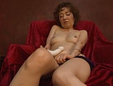 Busty Asian Kei Mirimura masturbates solo for hidden cam picture 11