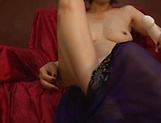 Busty Asian Kei Mirimura masturbates solo for hidden cam picture 12