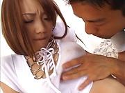 Busty doll Kurara Tachibana fucked from behind and creamed