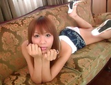 Hinano Momosaki enjoys blowing of a shlong picture 1