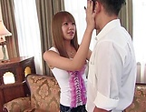 Hinano Momosaki enjoys blowing of a shlong picture 3