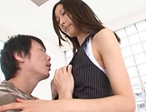 Japanese model, Eri Ito endures facial after a good fuck picture 14