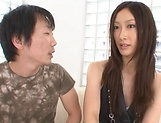 Japanese model, Eri Ito endures facial after a good fuck picture 7