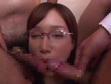 Japanese milf Nanami Kawakami loves jizz bursting on her face picture 12