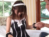 Horny maid loves taking cock for a ride
