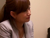 Kinky office lady has her pussy nailed picture 14