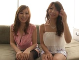 Shinoda Ayumi and Kitagawa Erika do fingering and carpet munching picture 11