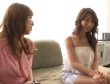 Shinoda Ayumi and Kitagawa Erika do fingering and carpet munching picture 4