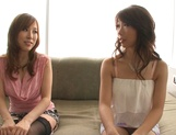 Shinoda Ayumi and Kitagawa Erika do fingering and carpet munching picture 5