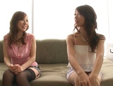 Shinoda Ayumi and Kitagawa Erika do fingering and carpet munching picture 7