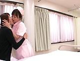 Horny Hazuki Nozomi loves wet snatch picture 15