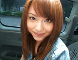 Hot teen, Akiho Yoshizawa gives a steaming blowjob in a car picture 9