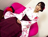 Cute diva in Kimono gets penetrated deep picture 13