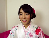 Cute diva in Kimono gets penetrated deep