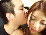 Mio Morisaki gives a kinky double blowie picture 15