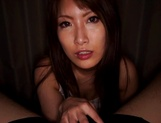 Busty Asian milf, Yume Mizuki gives hot tit fuck