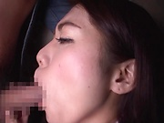 Hot office babe Nishin Hikari gets massive facial
