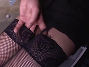 Alluring Asian babe gives satisfying head
