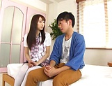 Foxy Claire Hasumi pleasures a lucky dude picture 13