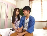 Foxy Claire Hasumi pleasures a lucky dude picture 15