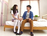 Foxy Claire Hasumi pleasures a lucky dude