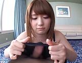 Hot babe Yui Nishikawa in stockings pleases stud