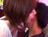 Aimi Yoshikawa gets her cunt creamed.