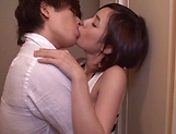 Huge cock drilling Aimi Yoshikawa making her squirt