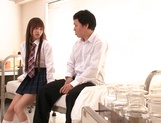 Schoolgirl with hairy pussy and big tits Ai Nikaidou gets sexual experience picture 11