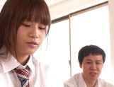 Schoolgirl with hairy pussy and big tits Ai Nikaidou gets sexual experience