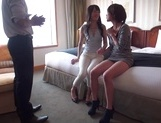 Two amazing milfs, Emiri Takayama, and her girlfriend share cock picture 13
