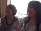 Two amazing milfs, Emiri Takayama, and her girlfriend share cock