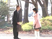 Kinky Japanese teen gal with tiny tits Nana Nanaumi has sex with a mature guy