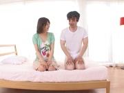 Sexy teen girl Nanami Kawakami gives her shy boyfriend a hot ride