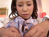 Beautiful teen chick with ubble tits Minami Kojima squirts and eats cum picture 14