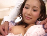 Beautiful teen chick with ubble tits Minami Kojima squirts and eats cum picture 15