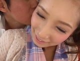 Beautiful teen chick with ubble tits Minami Kojima squirts and eats cum picture 9