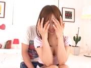 Horny teen sex doll Minami Kojima gets fingered and banged