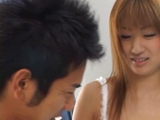 Shy redhead teen Mio Ayase becomes brave in bed enjoys deep fuck
